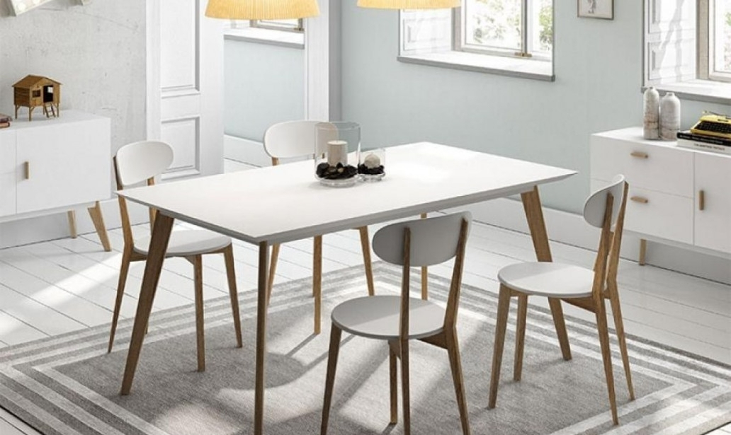 Dining Table White Legs Wood Top | Modern Home Furniture | Home With Regard To Dining Tables With White Legs And Wooden Top (Image 6 of 25)