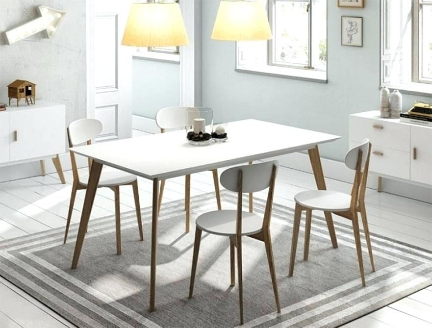 Dining Table White Legs Wooden Top Black And Dark Wood Combination Regarding Dining Tables With White Legs (Image 5 of 25)