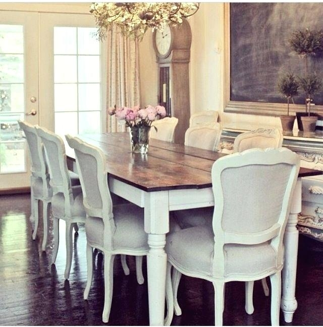 Dining Table White Legs Wooden Top – Wwild (Image 7 of 25)