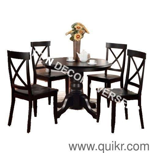 Dining Table With 4 Chairskraft N Decor, Material – Sheesham Inside Sheesham Dining Tables And Chairs (Image 3 of 25)