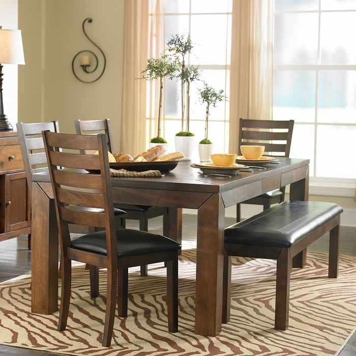 Dining Table With Bench And Chairs Treenovation Kitchen Table Sets With Small Dining Tables And Bench Sets (Image 14 of 25)