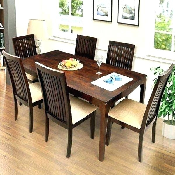 Dining Table With Six Chairs Incredible Nice Dining Room Chairs Set Regarding Dining Tables For Six (Image 12 of 25)