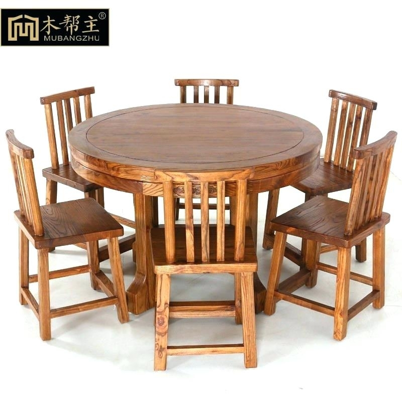 Dining Table With Six Chairs Six Chair Dining Table Folding Wooden Within Dining Tables For Six (Image 13 of 25)