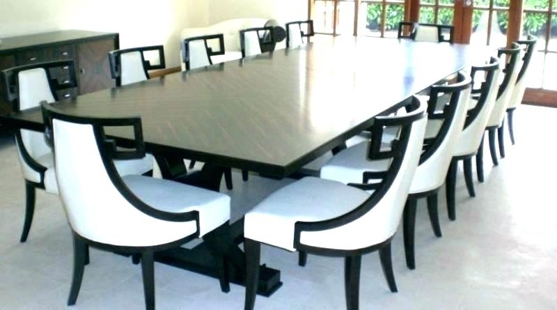 Dining Tables 10 Seater Dining Table Seat Modern Glass Dining Table For 10 Seater Dining Tables And Chairs (Image 20 of 25)