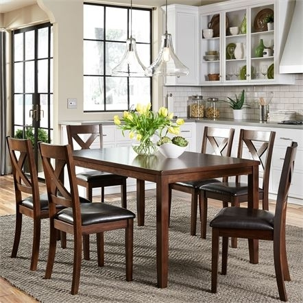 Dining Tables 7 Piece | Liberty Pertaining To Magnolia Home Prairie Dining Tables (View 15 of 25)