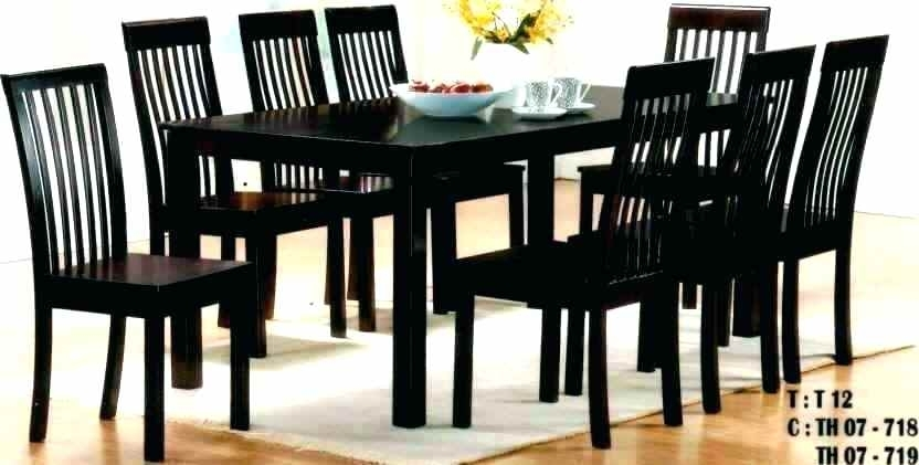 Dining Tables 8 Seater Elegant 8 Dining Table Set Idea Table Ideas With 8 Seater Black Dining Tables (Image 19 of 25)