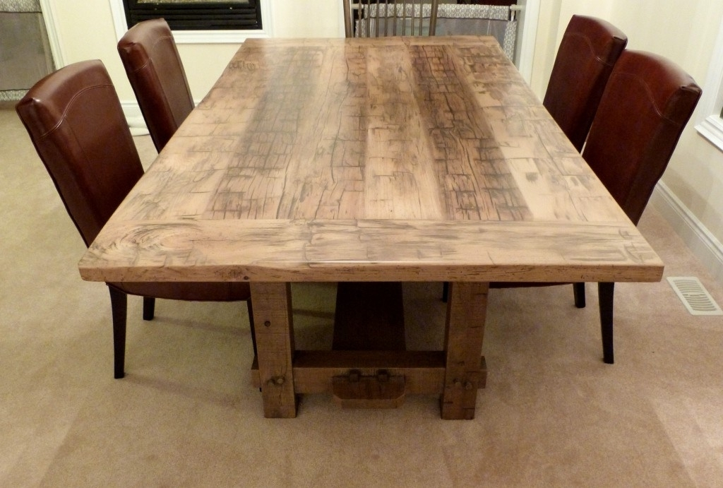Dining Tables: Amazing Small Reclaimed Wood Dining Table Reclaimed For Cheap Reclaimed Wood Dining Tables (View 22 of 25)