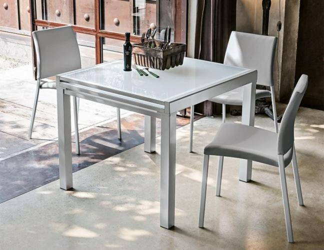 Dining Tables: Amazing Square Extending Dining Table Extendable with White Square Extending Dining Tables