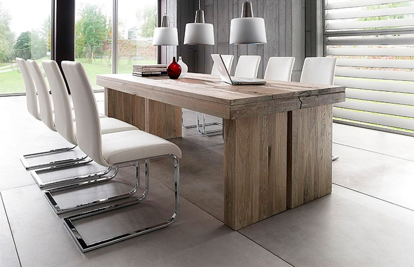 Dining Tables: Astonishing 8 Ft Dining Table 8 Ft Long Dining Table Regarding Dining Tables For Eight (Image 12 of 25)