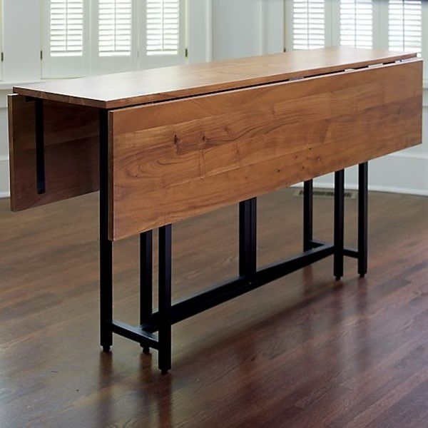 Dining Tables: Astounding Dining Table With Leaves Expandable Dining With Regard To Drop Leaf Extendable Dining Tables (Image 8 of 25)