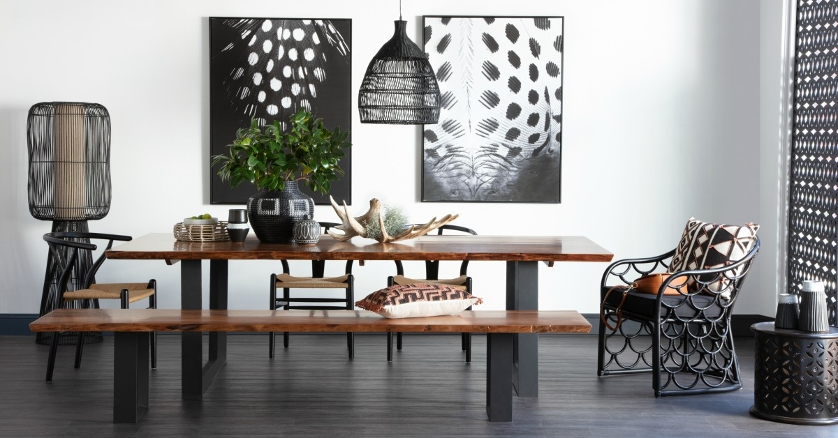 Dining Tables - Australia Wide, Online + In-Store! in Parquet 7 Piece Dining Sets