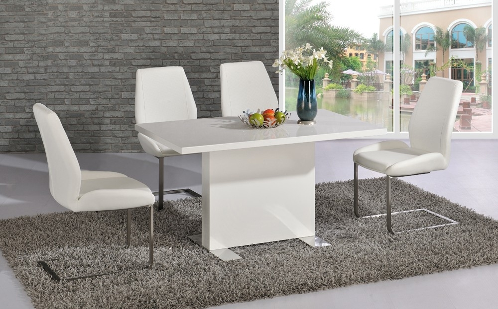 Dining Tables – Bcf Within Shiny White Dining Tables (Image 6 of 25)