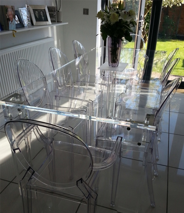 Dining Tables: Charming Clear Dining Table Clear Dining Room Chair For Acrylic Round Dining Tables (View 15 of 25)