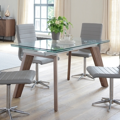 Dining Tables | Contemporary Dining Room Furniture From Dwell Throughout Glass Extending Dining Tables (Image 9 of 25)