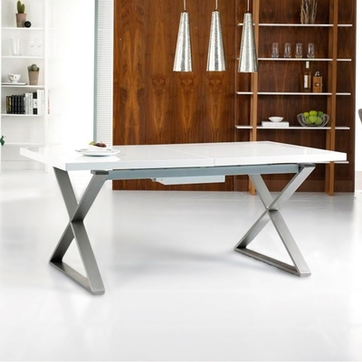 Dining Tables | Contemporary Dining Room Furniture From Dwell With Shiny White Dining Tables (Image 10 of 25)