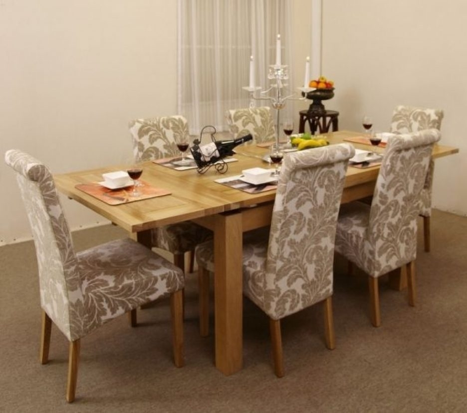 Dining Tables Dining Room Sets With Fabric Chairs Fabric With Regard To Dining Tables And Fabric Chairs (Image 11 of 25)