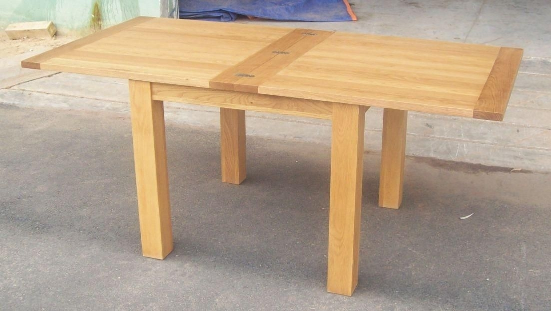 Dining Tables | Flip Top Square Oak Dining Table Shown Below, 100Cm Regarding Square Oak Dining Tables (Image 9 of 25)
