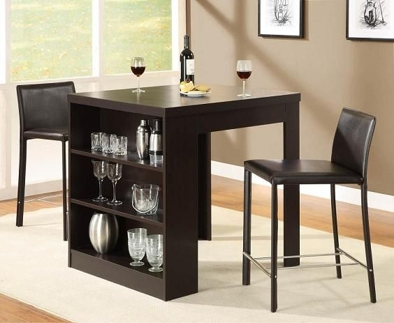 Dining Tables For Small Spaces | Small Dining Table With Storage Throughout Small Dining Sets (Image 8 of 25)