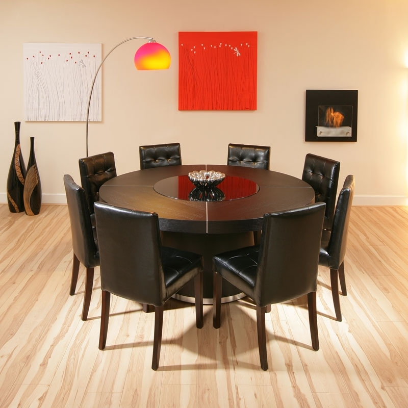 Dining Tables: Inspiring 8 Seater Round Dining Table And Chairs 8 Intended For 8 Seater Round Dining Table And Chairs (Image 13 of 25)