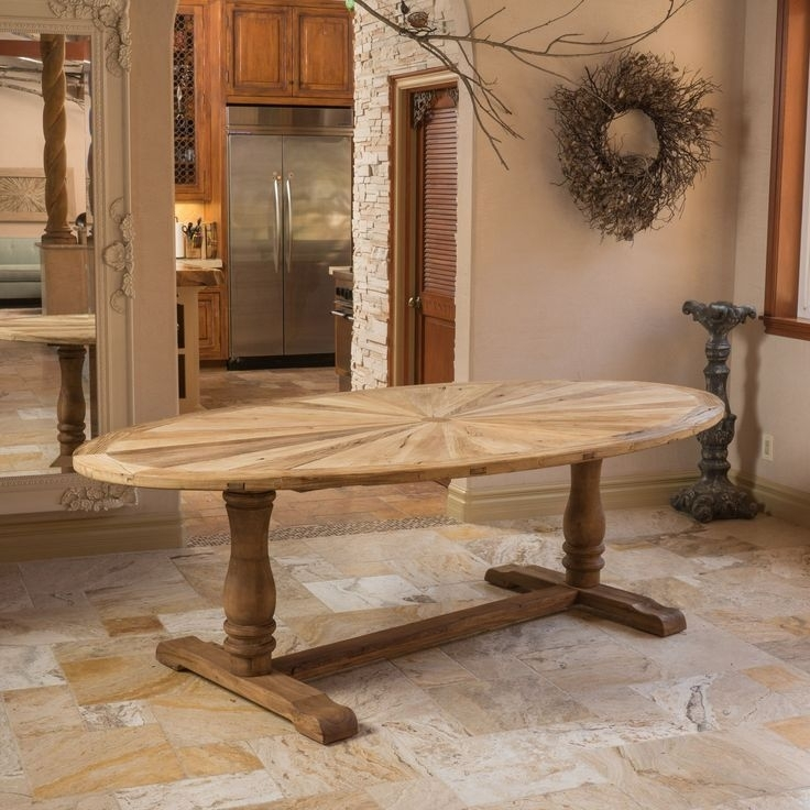 Dining Tables: Inspiring Oval Reclaimed Wood Dining Table Reclaimed Within Oval Dining Tables For Sale (View 20 of 25)