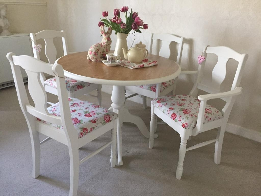 Dining Tables: Interesting Shabby Chic Dining Table And Chairs Throughout Shabby Dining Tables And Chairs (View 12 of 25)
