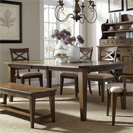 Dining Tables | Liberty For Craftsman 5 Piece Round Dining Sets With Uph Side Chairs (Image 6 of 25)