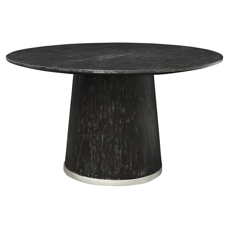 Dining Tables: Outstanding Black Round Dining Table Black Dinette For Caira Black Round Dining Tables (View 5 of 25)