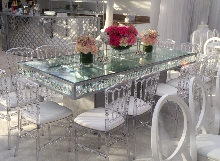 Dining Tables | Palace Party Rental For Crystal Dining Tables (View 4 of 25)
