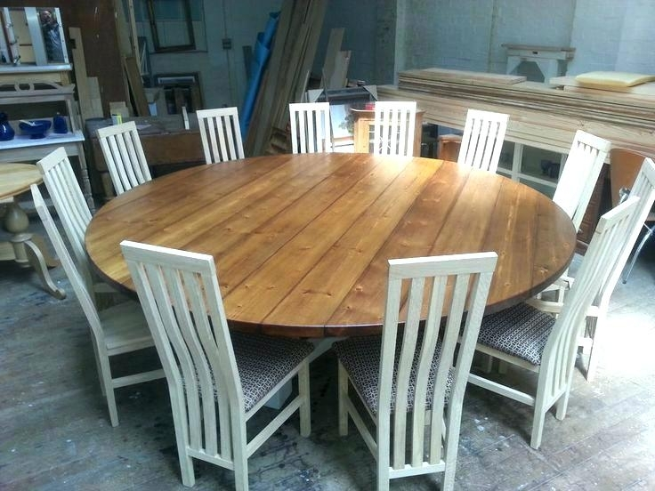 Dining Tables Seats 8 Square Dining Table Seats 8 Dining Tables Throughout Large Circular Dining Tables (Image 11 of 25)