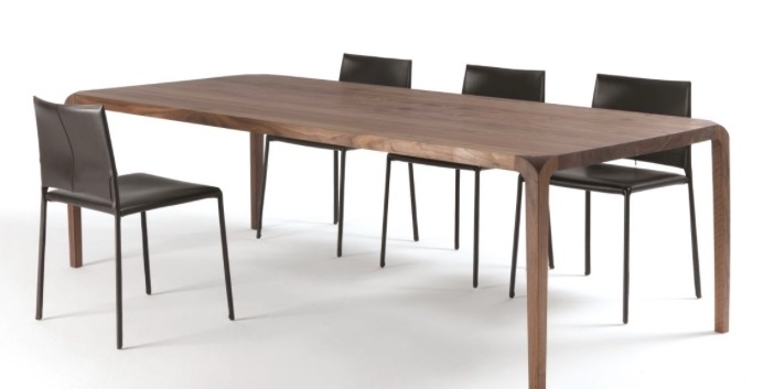 Dining Tables: Sleek Table with regard to Sleek Dining Tables