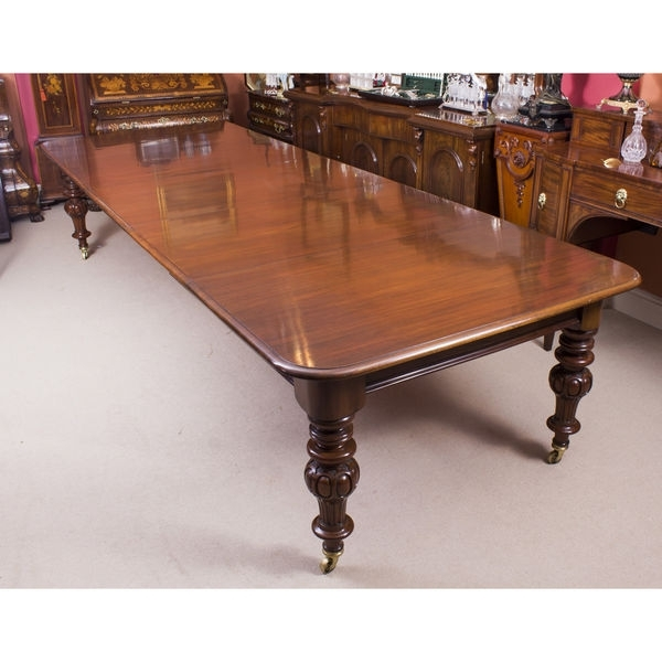 Dining Tables Victorian (Victoria) – The Uk's Premier Antiques Pertaining To Mahogany Extending Dining Tables And Chairs (Image 12 of 25)