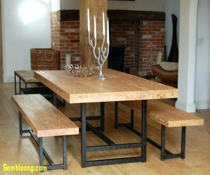 Dining Tables With Benches With Backs Kitchen Table Bench Seats With Regard To Dining Tables Bench Seat With Back (Image 22 of 25)