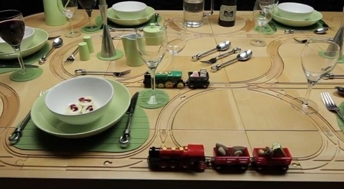 Dining Tables With Built In Toy Train Tracks – Designtaxi In Railway Dining Tables (Image 3 of 25)