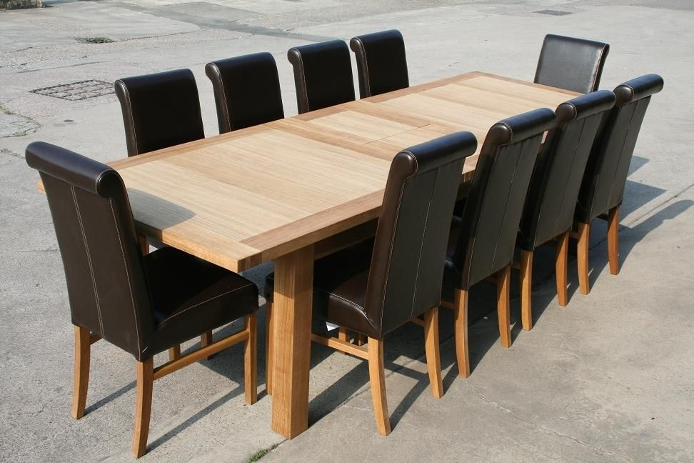 Dinning Table And Leather Chairs | Decor | Pinterest | Dinning Table In Oak Dining Tables And Leather Chairs (Image 4 of 25)