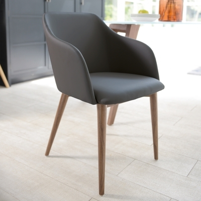 Dip Dining Chair Grey – Dwell Throughout Grey Dining Chairs (Image 7 of 25)