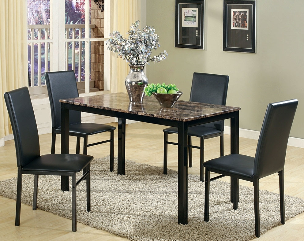 Discount Dining Room Sets & Kitchen Tables | American Freight regarding Jaxon 5 Piece Round Dining Sets With Upholstered Chairs