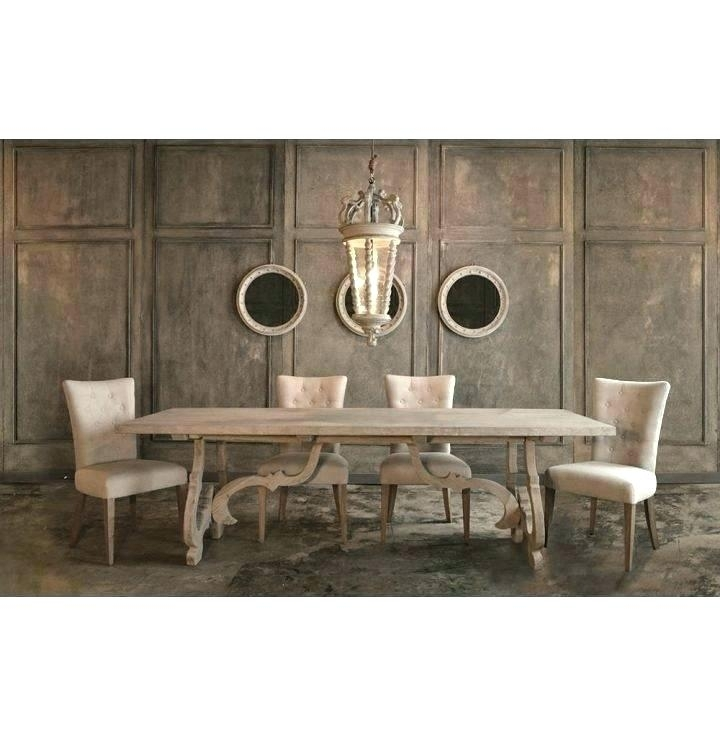 Distressed Wood Kitchen Table Rustic Round Dining Table Regarding Throughout Small White Dining Tables (View 23 of 25)