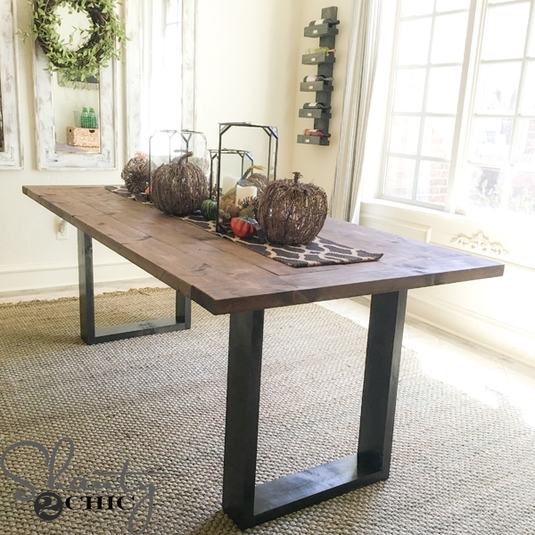 Diy Rustic Modern Dining Table – Shanty 2 Chic In Contemporary Dining Tables (Image 15 of 25)