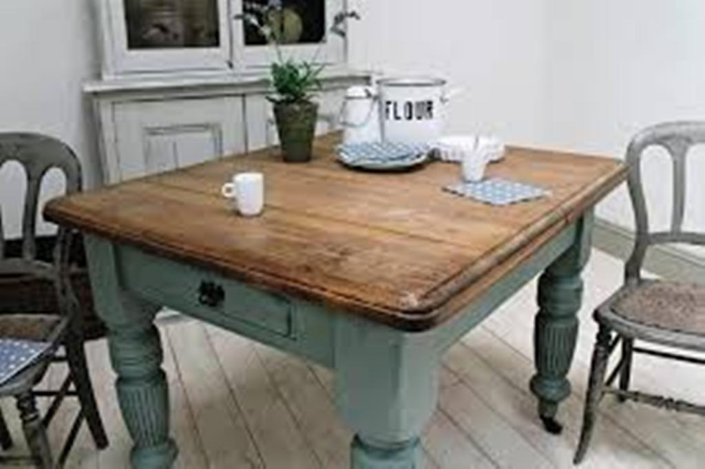 Diy Small Farmhouse Dining Table : Home Design – Great Ideas For In Helms Rectangle Dining Tables (Image 7 of 25)