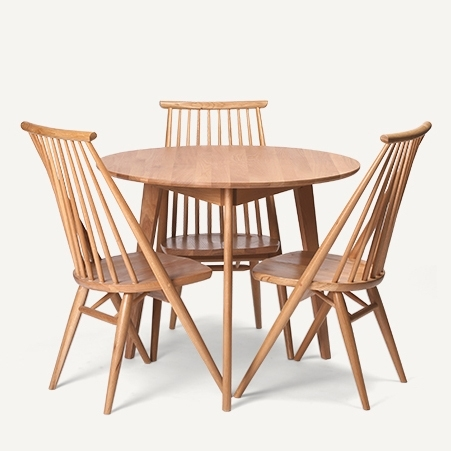 Dodge Scandinavian Modern Style Furniture, Solid Wood Oak Dining Within Oak Dining Suite (Image 8 of 25)