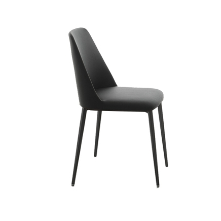 Dolce Black Dining Chair | Modern Italian Pertaining To Black Dining Chairs (Image 11 of 25)