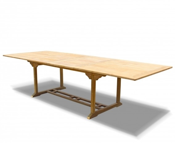 Dorchester Large Double Extending Outdoor Dining Table – 2 – 3M Regarding Extending Outdoor Dining Tables (View 6 of 25)