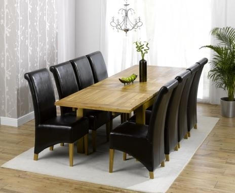 Dorset Solid Oak Dining Set – 6Ft Table With 8 Chairs | Dining Room Pertaining To 8 Chairs Dining Tables (View 12 of 25)