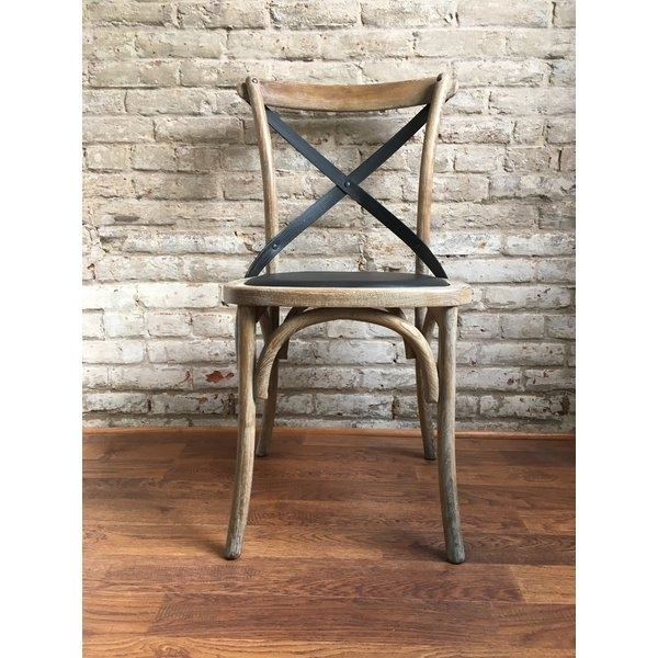 Double Cross Back Dining Chair | Wayfair Inside Helms 5 Piece Round Dining Sets With Side Chairs (View 10 of 25)