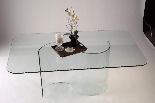 Double Curved All Glass Dining Table Base | For The Home | Pinterest With Regard To Curved Glass Dining Tables (Image 14 of 25)