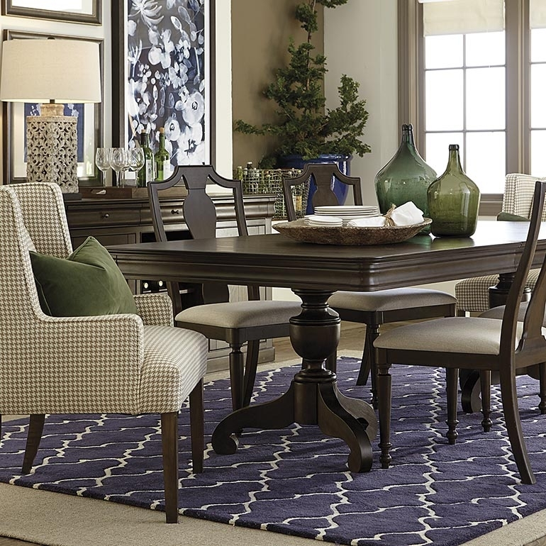Double Pedestal Dining Table Intended For Provence Dining Tables (View 2 of 25)