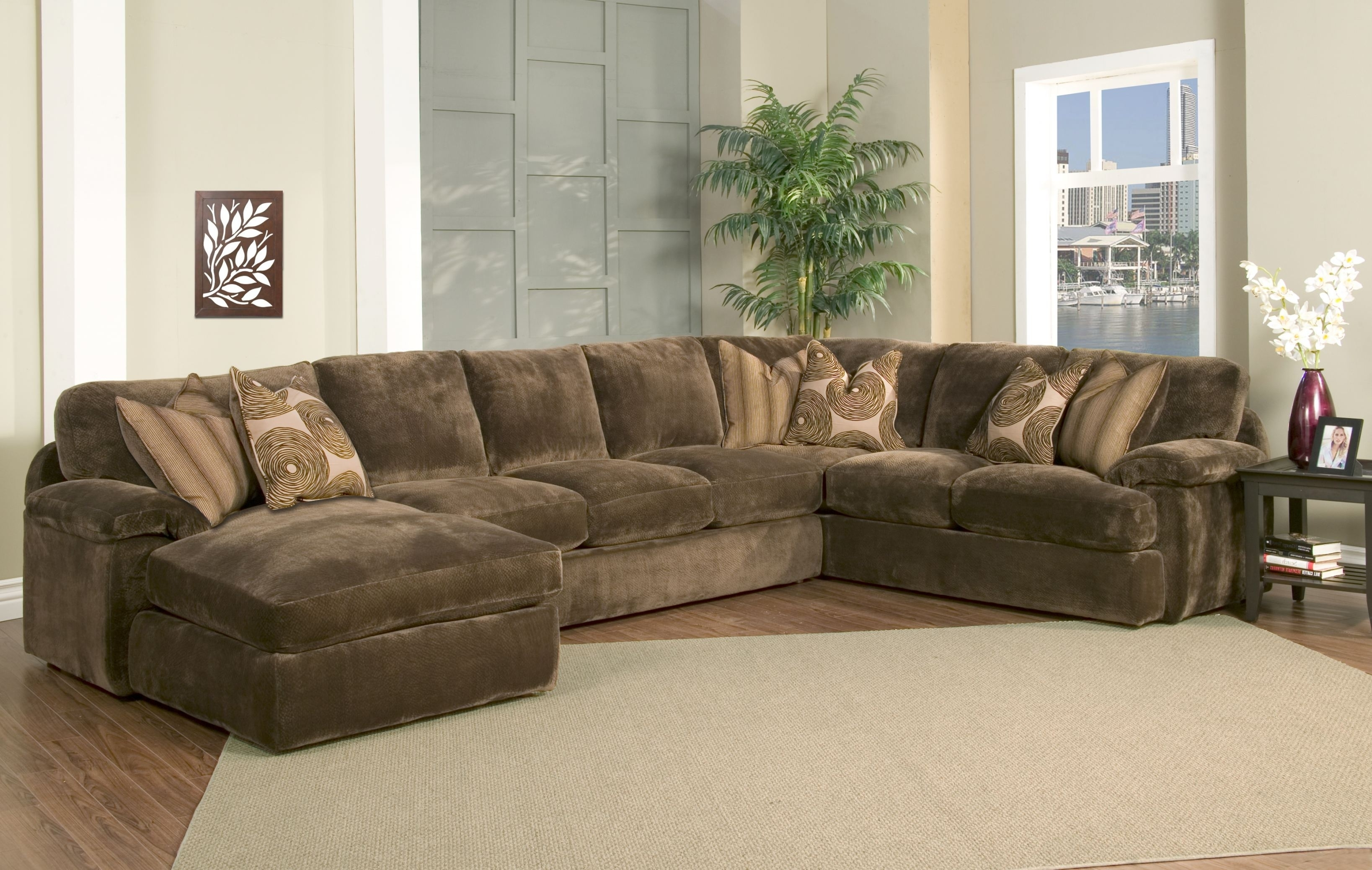 Down Filled Couches Leather Sofa Where To Buy Best Sectional Throughout Harper Foam 3 Piece Sectionals With Raf Chaise (Image 4 of 25)