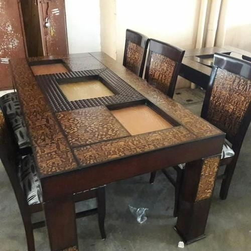Drake Wooden Six Seater Dining Table, Rs 27500 /set, Om Sai Throughout Six Seater Dining Tables (View 2 of 25)