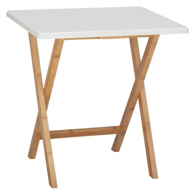 Drew 2 Seat Bamboo And White Lacquer Folding Dining Table | Buy Now Pertaining To Folding Dining Tables (View 7 of 25)