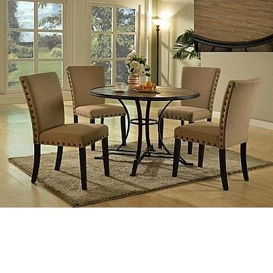 "Drift Wood 45"" X 36 Wyatt Dining Table : Marlins Furniture In Wyatt Dining Tables (Image 6 of 25)"